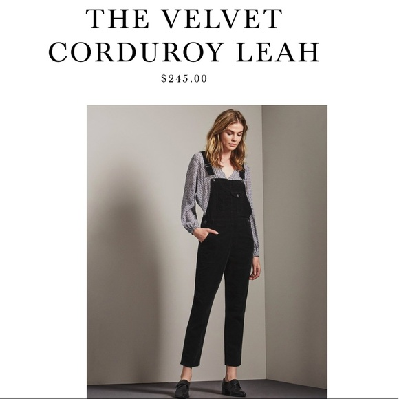 top-rated genuine classic styles good reputation AG Velvet Corduroy Leah Overalls